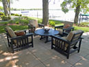 Polywood 5 Piece Chat Outdoor Patio Furniture Set