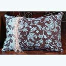 Chocolate Nautical Toss Pillow