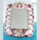 Seas in Pink Nautical Seashell Picture Frame